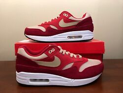 Nike Air Max 1 Premium Retro Curry Pack Size 10 Tough Red Rush Red 908366 600