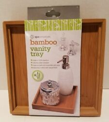 Bamboo Vanity Trinket Jewelry Tray Water Resistant Natural Finish