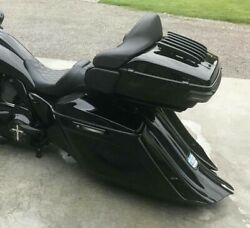 Aqp Stretched Saddle Bags And Rear Fender Long Tail For Harley Touring Baggers