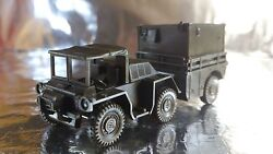Roco Minitank 389 Military Vehicle With A Covered Trailer 187 Ho Scale