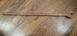 Vintage Antique Large Iron Works Spud Wrench Tool 35 Long Large Heavy S 1 3/8