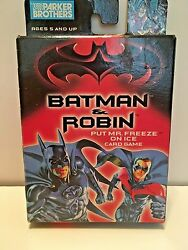 Parker Brothers Batman And Robin Put Mr. Freeze On Ice Card Game 1996 Hasbro Inc