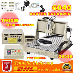 3 Axis 1.5KW VFD 6040 Router Engraver Engraving Machine Drilling Cutting 220V EU