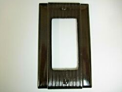Vintage Uniline Brown Decora Gfci Switch Outlet Cover Plate Bryant / Pands Ribbed