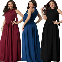 Roiii New Long Chiffon Formal Evening Bridesmaid Maxi Party Dress Ball Prom Gown $19.98