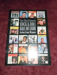 The Beatles Rock And Roll Hall Of Fame Program Bob Dylan The Beach Boys Rare