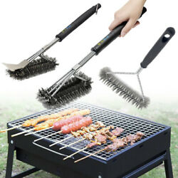 Bbq Cleaning Grill Brush Scrubber Barbecue Stainless Steel Kitchen Wire Brush 1x