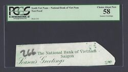 South Vietnam -national Bank Of Viet-nam Test Proof Vignette About Unciruclated
