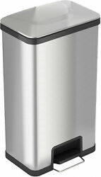 Air Step Stainless Steel 18-Gallon Step-On Trash Can Home Garbage Waste Storage