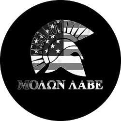 Molon Labe Grey Scale Spare Tire Cover Any Size Any Vehicletrailer Rv