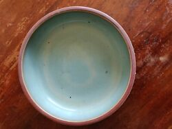 Chinese Jun Porcelain Rounded Red Blue Studded Bowl