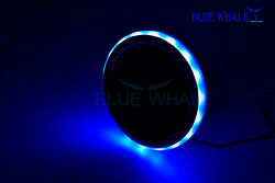 6 Pcs Led Light Ring Blue Stainless-steel Cup Drink Holder W/ Drain Bl99310757