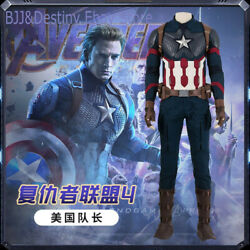 Captain America Fish Scale Suit Avengers Endgame Cosplay Costume Custom Made