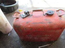 Vintage Omc Johnson Evinrude Metal Outboard Gas Can Tank