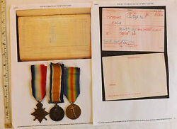 Military Wwi Trio Medal Group Wounded Tunnel Depot Company Tunnelling Coy 2906