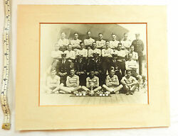 Ww1/2 Military Naval Photograph Officers And Soldiers Boxing Team Trophies 3466
