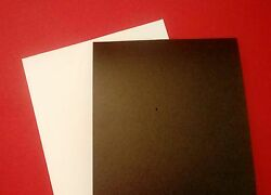 A4 Foam Sheets Adhesive Backed Both Sides White And Black 1mm, 2mm And 3mm