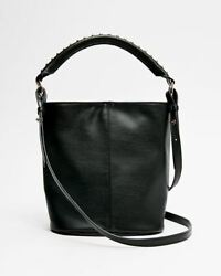 Express Women#x27;s Studded Mini Bucket Bag Black New W Tag $24.00