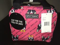 Brand NEW!!! Betsey Johnson Pug Insulated Lunch Box Tote Cooler Bag!!!
