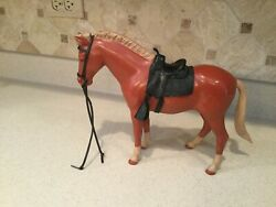 Vintage Louis Marx Johnny West Horse Pony Soreel Pancho W/ Saddle And Accessories