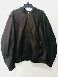 Banana Republic Menand039s Leather Jacket 877453 Brown Xxlarge Msrp 466 New W/tag