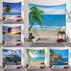 Sea Scenery Tapestry Art Wall Hanging Beach Landscape Tapestries Home Dorm Decor