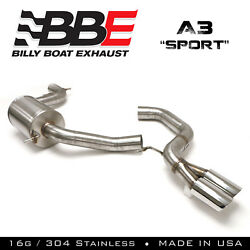 Billy Boat Exhaust Fpim-0470 2005-2009 Audi A3 Sport Cat Back Exhaust System