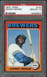 1975 Topps 123 Johnny Briggs Brewers Psa 10 30462802
