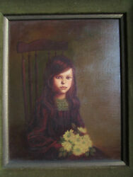 Cotti Portrait Painting Of Girl Oil On Canvas California Artists