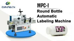 Tabletop Round Bottle Automatic Labeling Machine for Glassplastic Bottles MPC-I
