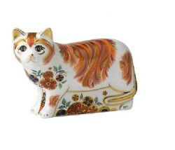 Royal Crown Derby Sugar Cat Paperweight - Discontinued