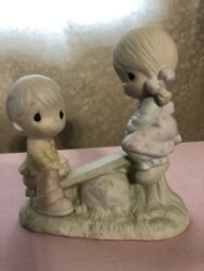 Precious Moments E-1375/a Love Lifted Me - Vintage 1977 Jonathon David See Saw