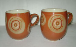 New Set Of 2 Denby Fire Chilli Large Curve Mugs Cup Pottery Stoneware China