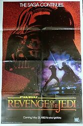 STAR WARS: Revenge Of The Jedi 1982 ORIGINAL Movie Poster Folded 27x41