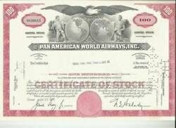 Two Pan Am Stock Certificates From 1973