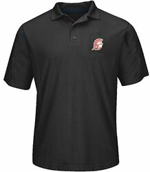 Usc Trojans Mens Black Embroidered Trojan Head Synthetic Polo Shirt By 289c