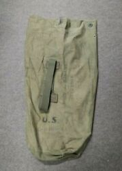 Vintage Ww2 Us Military Od Green Canvas Duffle Bag 1945 Wwii Named 111