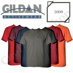 NEW Gildan Men's Heavy Cotton Plain Crew Neck Short Sleeves T-Shirt 5000 S~2XL $8.99