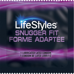 Lifestyles Snugger Fit + Brass Pocket Case, Tighter Lubricated Latex Condoms