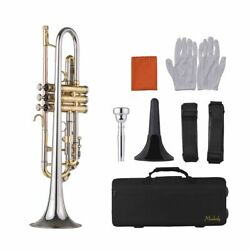 Standard Bb Trumpet Multicolored Design With Mouthpiece Trumpet Stand Carry Bag