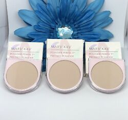 Mary Kay Lot Of 3 Pieces Powder Perfect Pressed Powder Ivory 6251