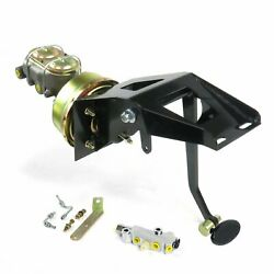 53-56 Ford Truck Fw 8 Single Brake Pedal Kit Disk/disksm Oval Blk Pad Hot Rods