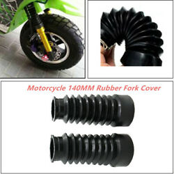 2x Motorcycle Rubber Fork Cover Dustproof Rubber Cover Gaiters Boots Waterproof