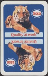 Playing Cards Single Card Old Vintage Esso Petrol Gas Oil Advertising Tiger