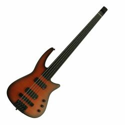 NS Design NXT5a Radius Fretless 5 String Bass Guitar Sunburst  - EMG Cw Gig bag