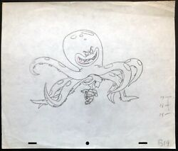 Hanna Barbera Production Drawing From Touche Turtle Title Sequence 1962