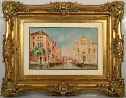 Listed German Artist Franz Marc (1880-1916) Signed Watercolor Painting