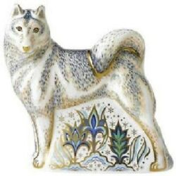 Royal Crown Derby Husky Limited Edition Paperweight - Discontinued