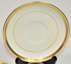 Atq Mintons Old Globe England Gold Encrusted Band Pattern G9816 5 1/2d Saucer