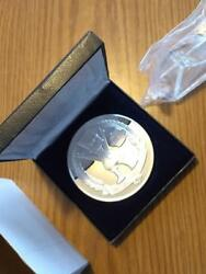 1992 SIMPSONS SUMMER GAMES SOLID SILVER MEDAL W BOX STAND. #38 Ultra rare find